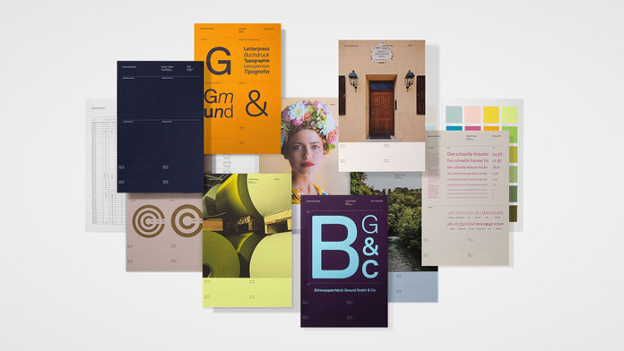 All swatchbook inserts were designed in their respective finishes.