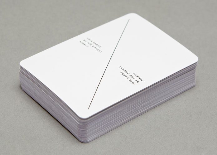 A minimalist playing cards deck.