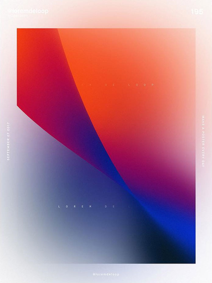 A poster a day by Lukas Bruhn aka Lorem De Loop, day 195
