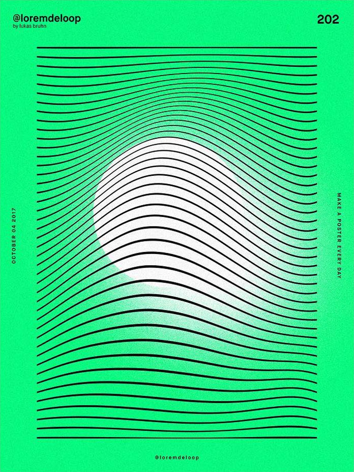 A poster a day by Lukas Bruhn aka Lorem De Loop, day 202