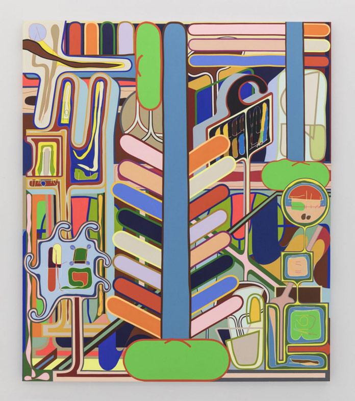 Beanstalk, 2017, acrylic on canvas, 84 x 72 inches, 213 x 183 cm