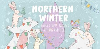 Design resources Northern Winter illustrations by Julia Dreams.