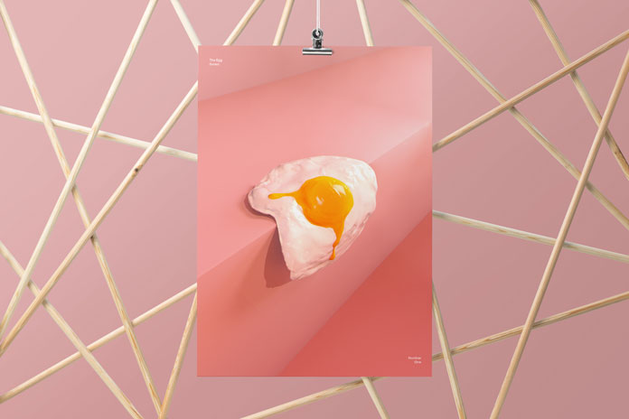 Fried egg on the edge.