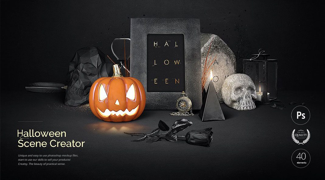 Halloween Scene Creator from design studio Creatsy.
