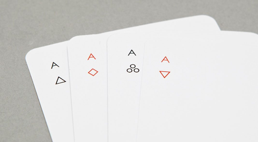 MINIM, a deck of playing cards by design practice Joe Doucet.