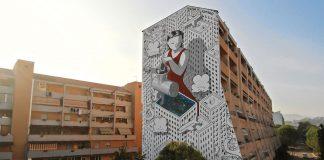 Mural by Italian artist Francesco Camillo Giorgino, aka Millo.