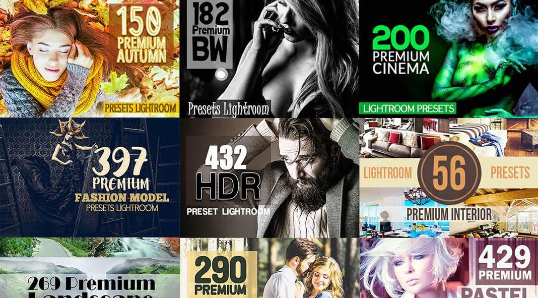 Over 59 premium Lightroom presets - limited time offer