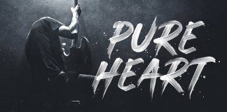 Pure Heart - realistic brush font.