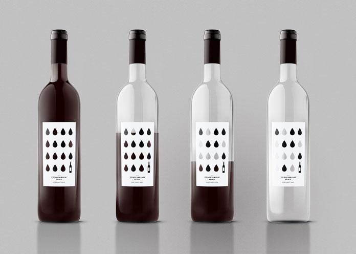 Equilibrium Estate wine packaging.