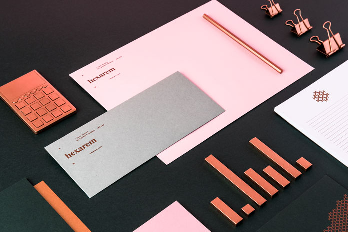 Hexarem - graphic design and brand identity development by Simon Laliberté and Etienne Rochon.