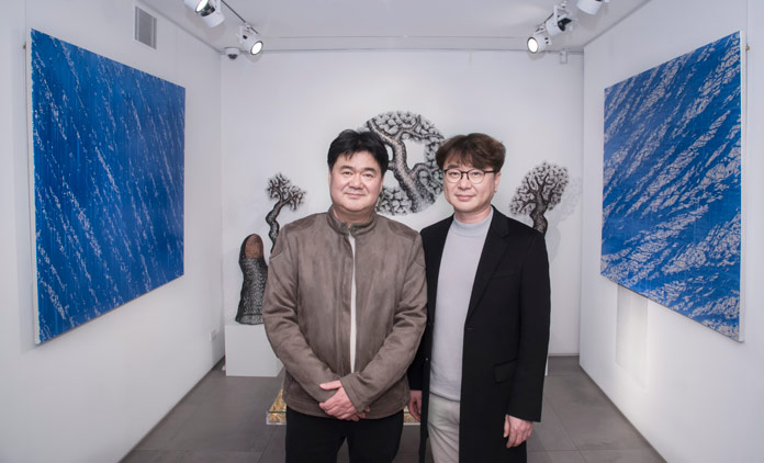 Lee Gil Rae and Chae Sung-Pil at Opera Gallery New York.