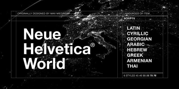 Neue Helvetica World from Linotype.