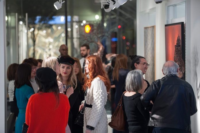 Image from the private reception at Opera Gallery New York.