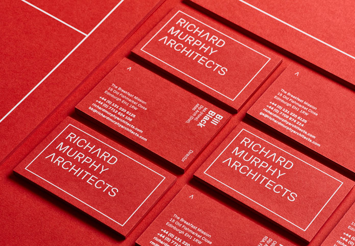 Two-sided business cards.