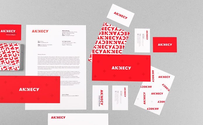 Stationery system and printed collateral.