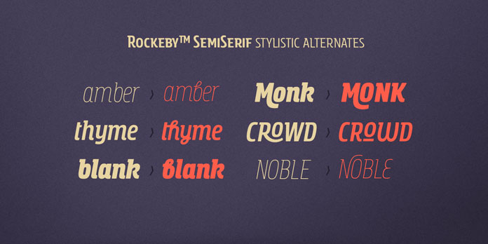 Stylistic alternates.