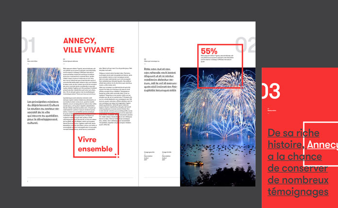 Brochure and communication design.