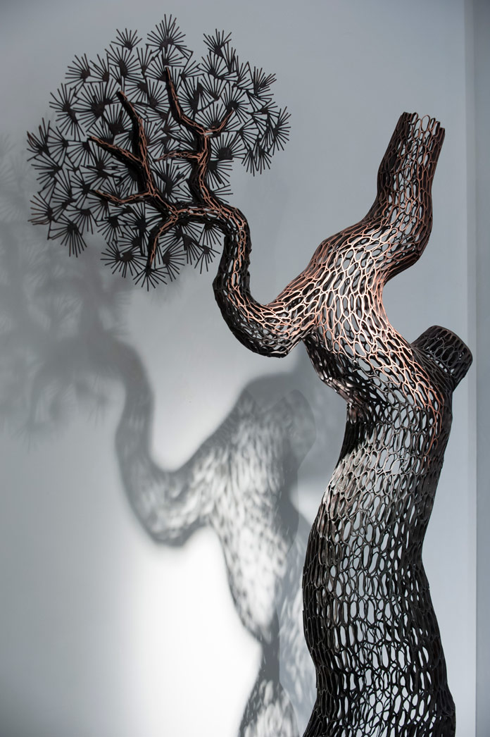 Nature inspired sculptures.