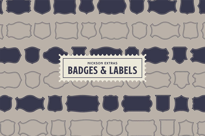 Badges and labels.