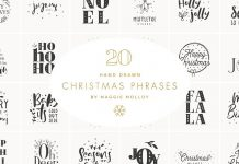 Hand drawn Christmas graphics as EPS and PSD files.