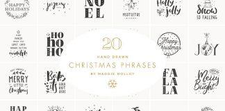 Hand drawn Christmas graphics as EPS and PSD files.