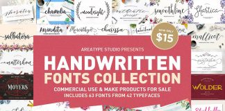 Handwritten Fonts Collection from Areatype.