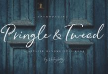 Pringle and Tweed script fonts by Nicky Laatz.
