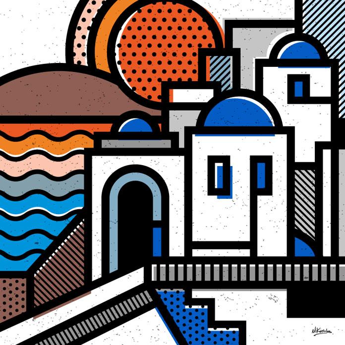 Stamps - Santorini