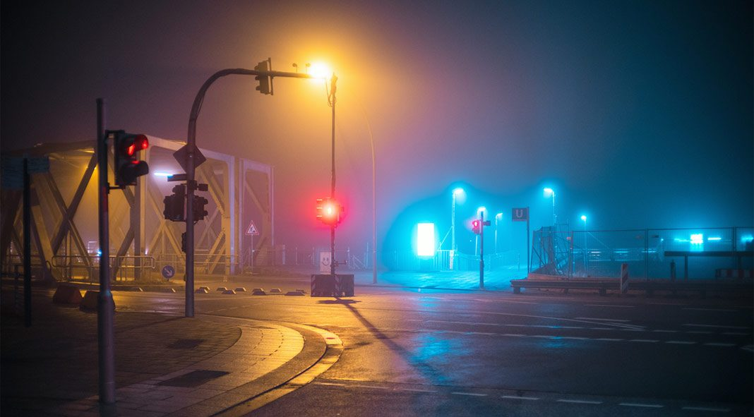 What the Fog - One night in Hamburg captured by Mark Broyer.