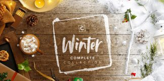 Winter templates collection for Adobe Photoshop.