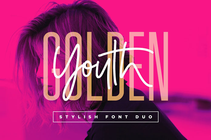 Golden Youth – font duo by Sam Parrett.