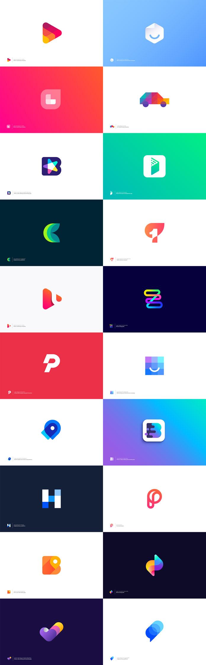 Logo designs by Vadim Carazan.