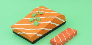 Paper food crafted by Samuel Shumway.