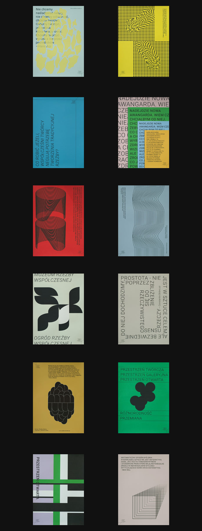 Posters by Marina Lewandowska for Centre of Polish Sculpture.