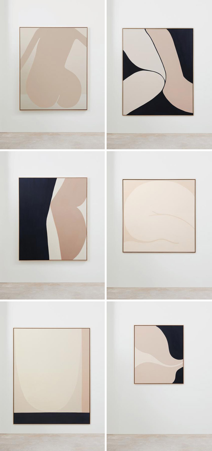 These abstract paintings by Australian artist Caroline Walls are inspired by the female form.