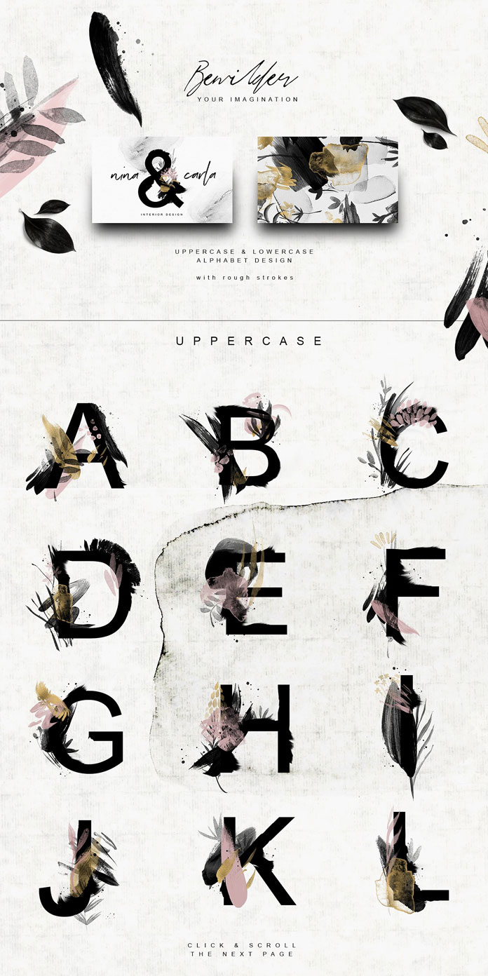 Uppercase letters.