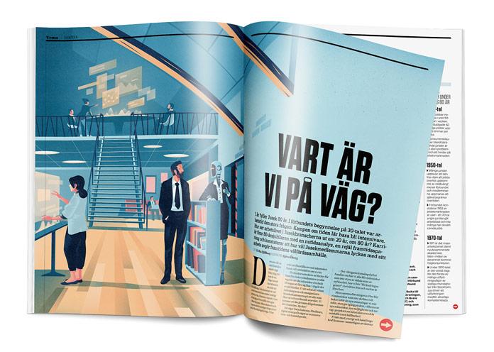 Tidningen Karriär is a union magazine published by Jusek.