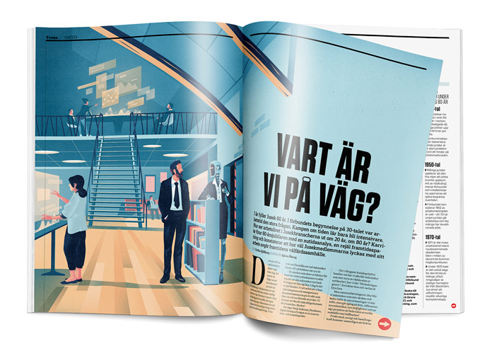 Tidningen Karriär is a union magazine published by Jusek.