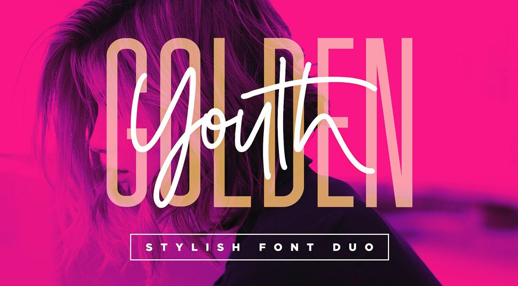 Golden Youth – Font Duo by Sam Parrett
