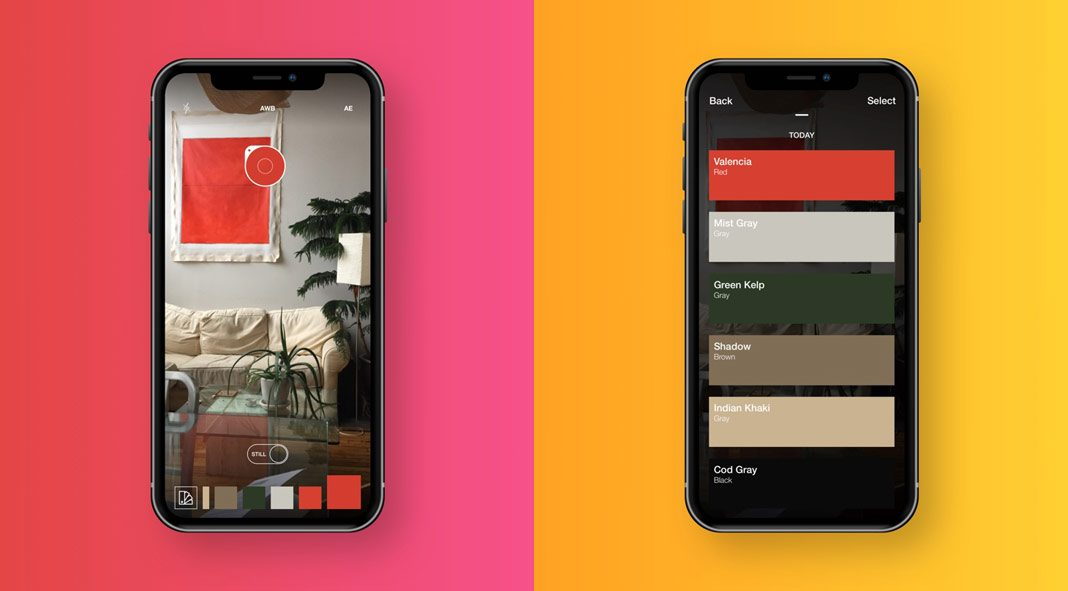 Swatches color picker iOS app.