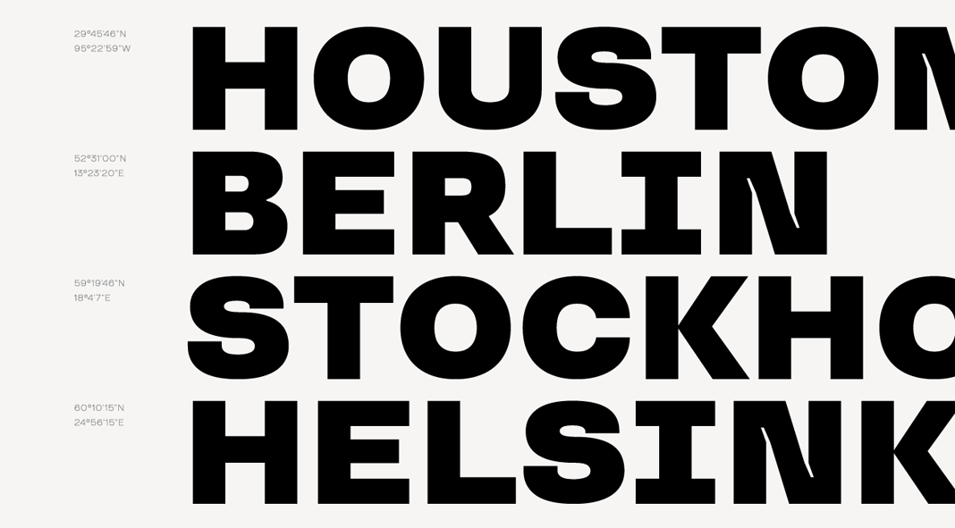 TT Travels, a modern grotesk font family in 9 weights.