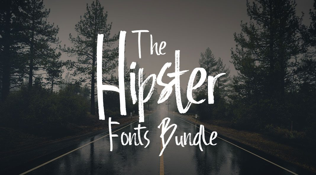 The Hipster Fonts Bundle 68 High-Quality Modern Fonts.