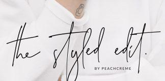 The Styled Edit – handwritten script font.