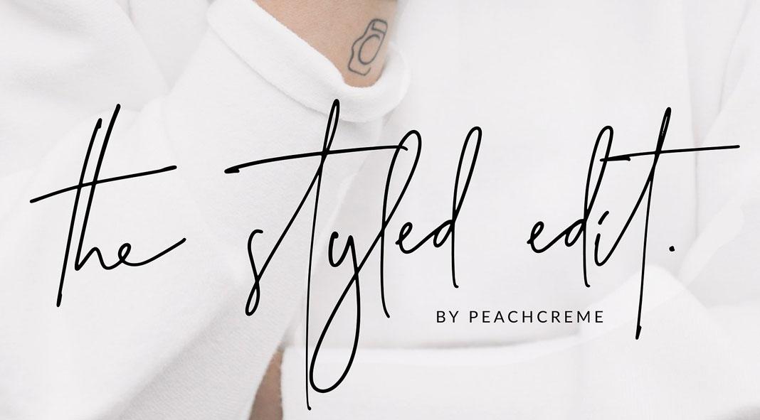 The Styled Edit – Handwritten Script Font