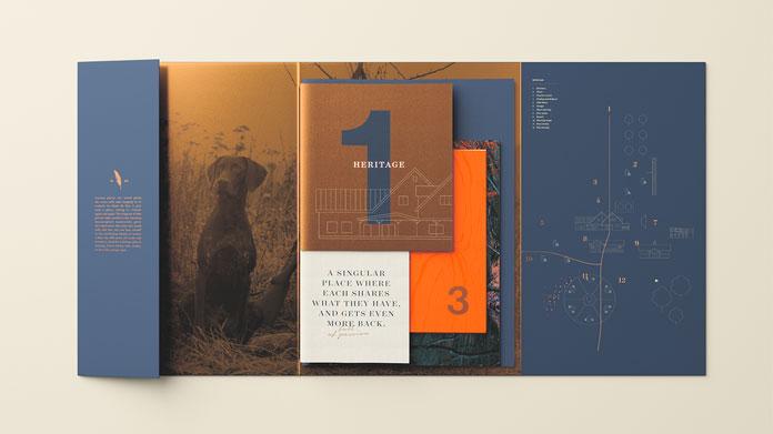 Brochure design by TUX Creative Co. for La Roue du Roy.