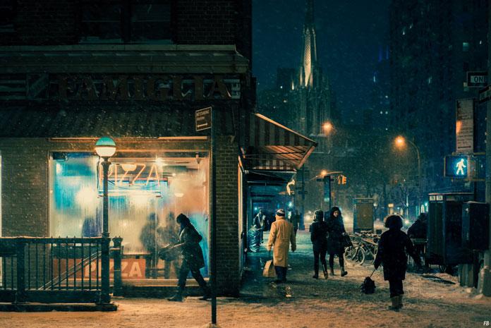 Velvet Snow – Photo Series in New York City by Franck Bohbot