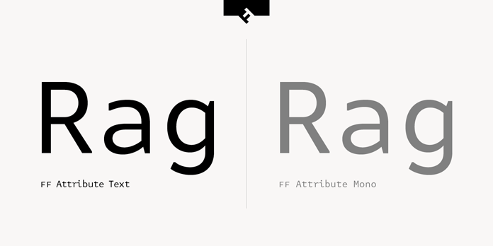 FF Attribute Text, Text vs Mono typeface.