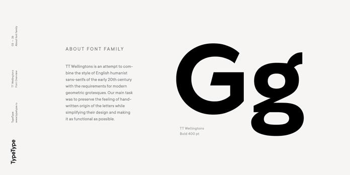 TT Wellingtons – About the font