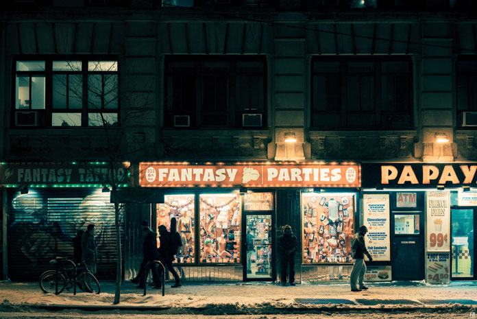 Franck Bohbot Photography, Light from the shop windows.