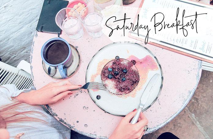 Saturday breakfast.